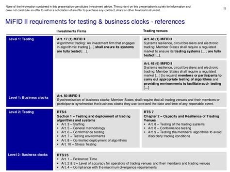EXTENT-2016: MiFID 2 Requirements for testing and business