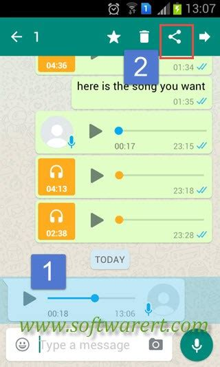 Save WhatsApp audio, music, voice messages and recordings