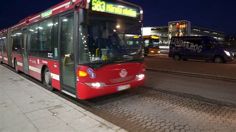 Sweden, Stockholm, ride with bus 583 from Arlanda Airport