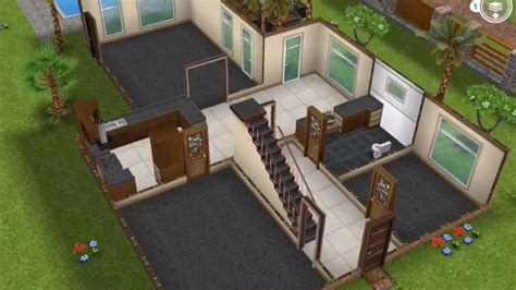 Two Story Unfurnished House- Sims FreePlay - YouTube