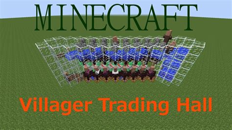Tutorial: Villager Trading Hall in Minecraft (Compact
