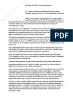 A Reaction Paper of President Noynoy Aquino 2013 State of