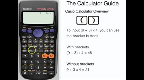 Casio Calculator Tutorial - Overview of Essential Buttons