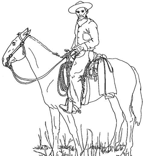 Cowboy Coloring Pages - GetColoringPages
