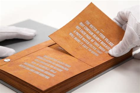 the drinkable book cleans and purifies water with advanced