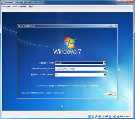 Install guest OS | Oracle VirtualBox