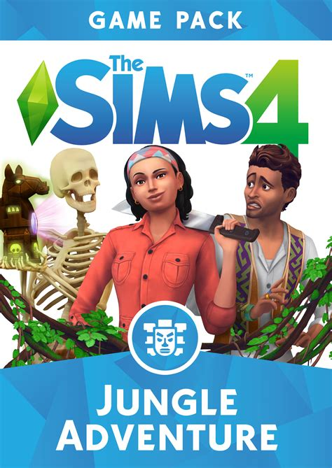 The Sims 4 Jungle Adventure: Official Assets (Boxart