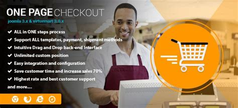 One page checkout for Virtuemart 3 | First page, Joomla