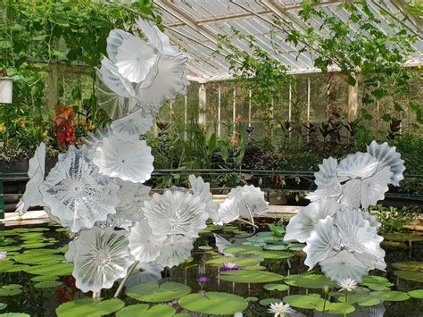 Glass sculptures paint London's Kew Gardens in light and