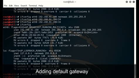 How to configure Network Adapter in Kali Linux using