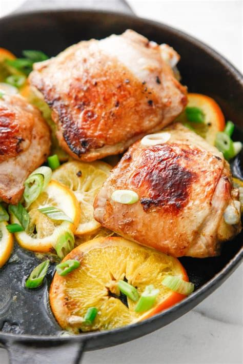 Skillet Citrus Marinated Chicken - The Brooklyn Cook
