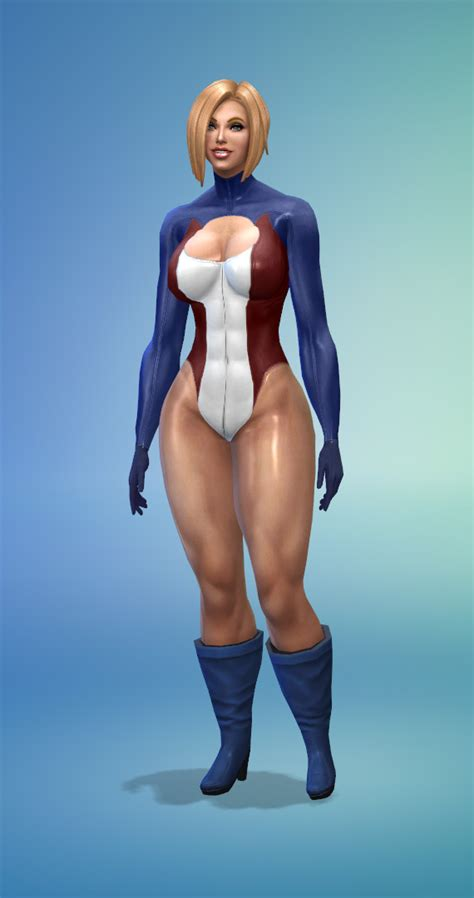 [Sims 4] Powergirl Suit - Downloads - The Sims 4 - LoversLab