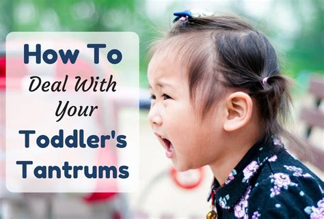 How To Deal With Your Toddler's Tantrums - KidloLand