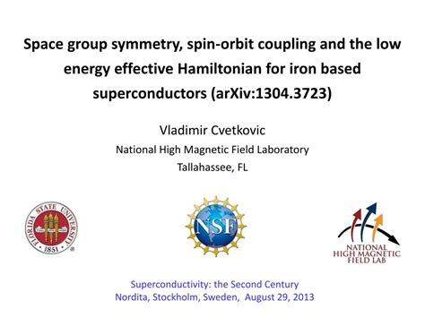 PPT - Space group symmetry, spin-orbit coupling and the