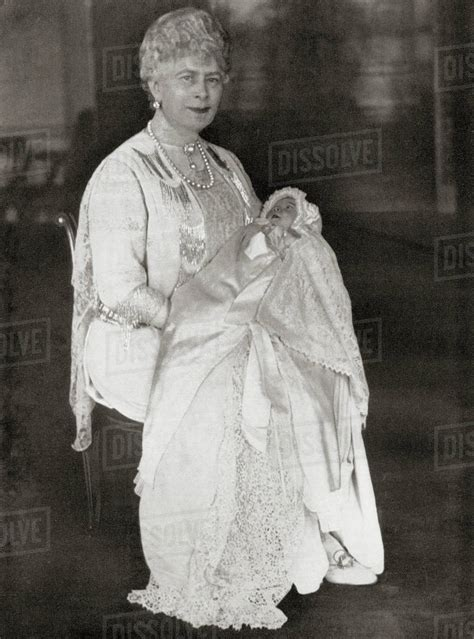 Mary Of Teck Holding Her Grandaughter Princess Elizabeth