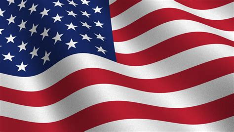 Usa Flag Waving in the Stock Footage Video (100% Royalty