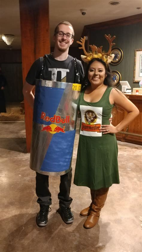 Homemade Couples Costume Jagerbomb Jagermeister Red Bull