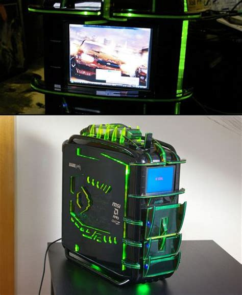 Best Custom PC Cases   Cosmos Dragon PC Has Built-in LCD