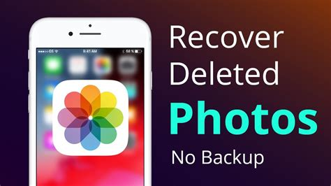 How to Recover Deleted Photos from iPhone [Without Backups