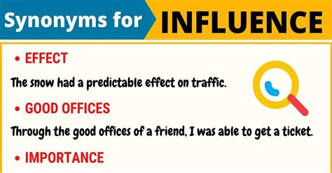 INFLUENCE Synonym: 100+ Synonyms For Influence With Useful