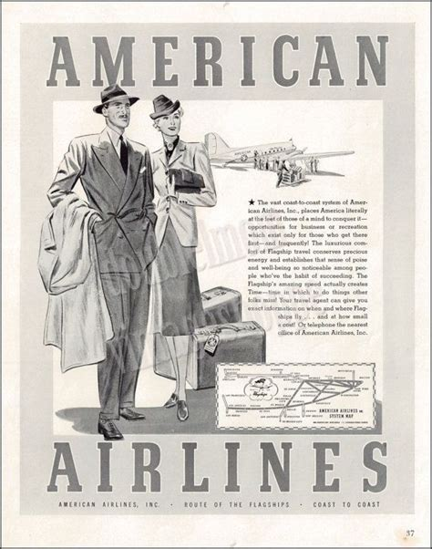 AMERICAN AIRLINES Vintage Ad from 1939 // Old Travel