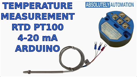 TEMPERATURE MEASUREMENT WITH RTD PT100 4-20 mA TRANSMITTER