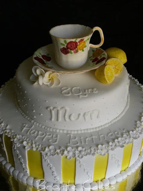Tea cup 80th birthday cake | Huge 12inch base with 9inch
