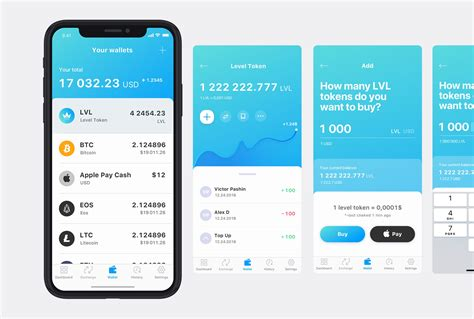 LevelApp mobile application: design, iOS and Android