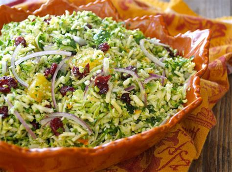 Make-Ahead Citrus Marinated Brussels Sprouts Salad with
