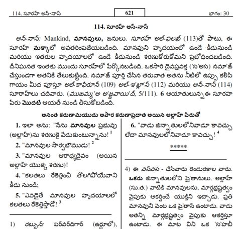 Quran Collection: The Holy Quran in Telugu Language
