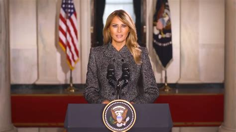 First Lady Melania Trump posts farewell message to Twitter