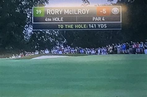 What is the number in green box in the CBS graphic? : golf