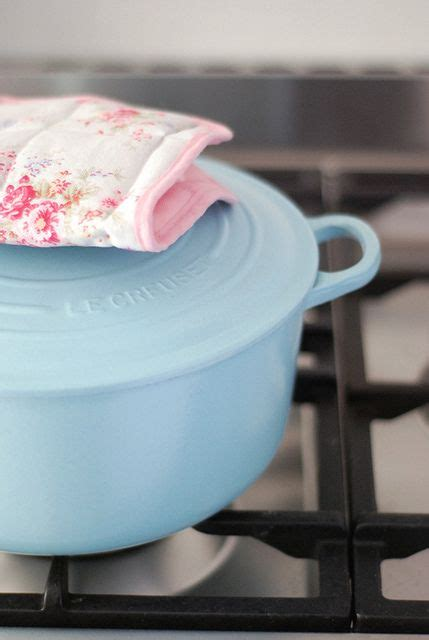 Light blue Le Creuset -- I'm holding out for mint green or