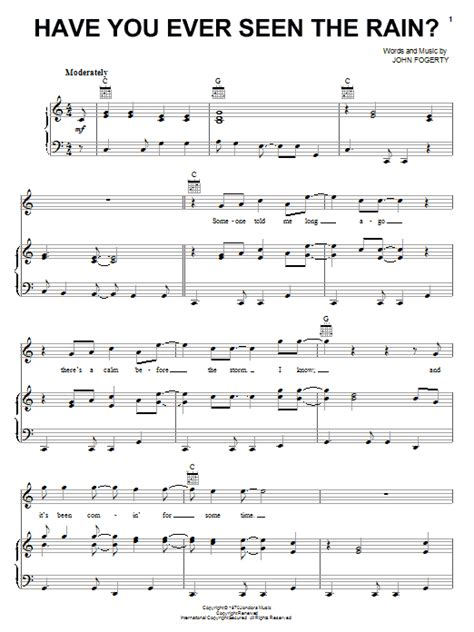 Have You Ever Seen The Rain? | Sheet Music Direct