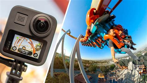 GoPro Max Review   360 Camera on a Rollercoaster - YouTube