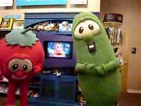 VeggieTales with Bob the tomato and Larry the cucumber